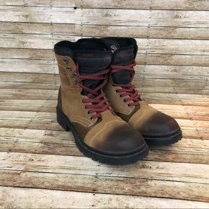 Kenneth Cole Reaction Lug  Over Leather Boots 11.5